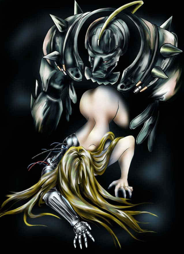 armor elric side view alphonse Nyarko san crawling with love
