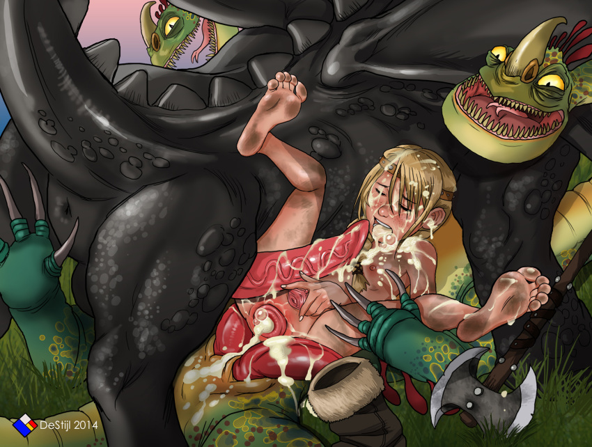 how your astrid train sex dragon to Trials in tainted space pregnant